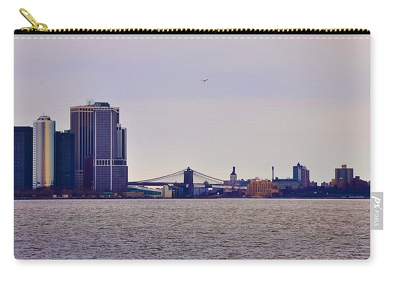 The Brooklyn Bridge Carry-all Pouch featuring the photograph The Brooklyn Bridge by Bill Cannon