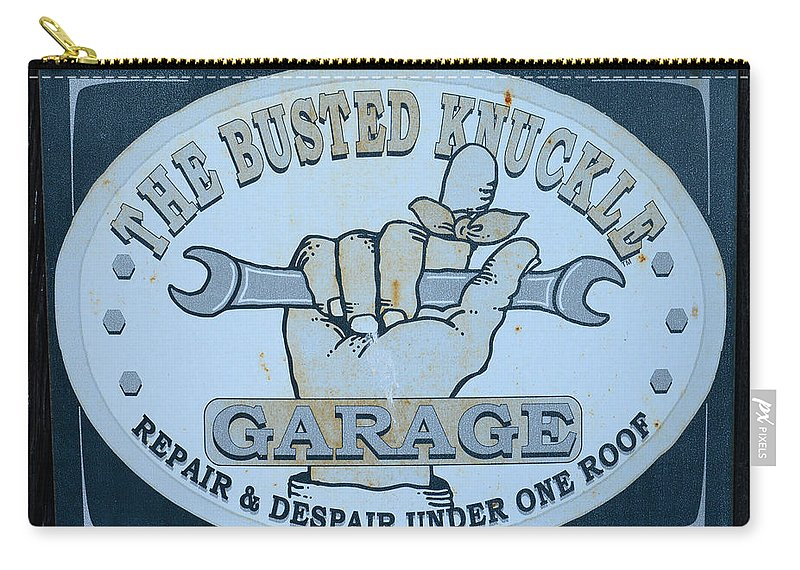The Busted Knuckle Carry-all Pouch featuring the photograph The Busted Knuckle by Paul Ward