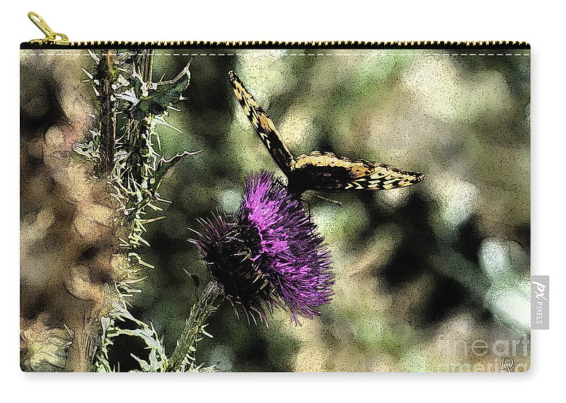 Fine Art Carry-all Pouch featuring the photograph The Butterfly I by Donna Greene