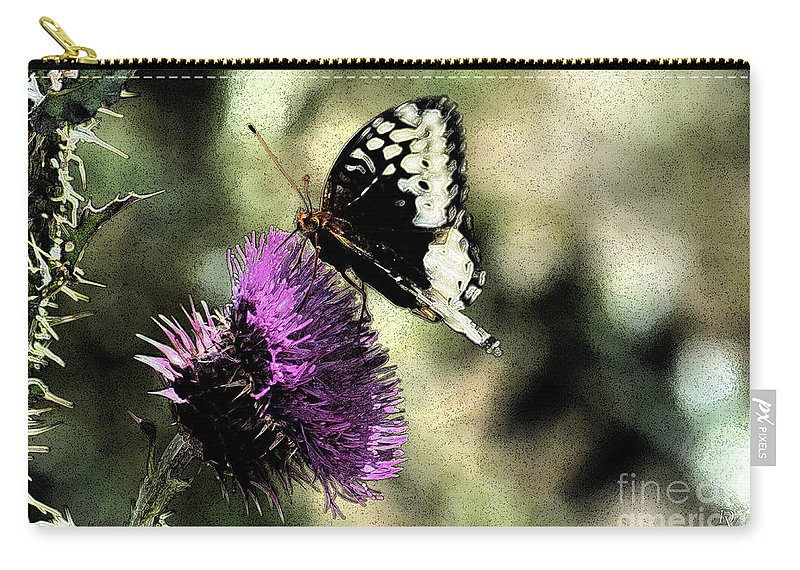 Fine Art Carry-all Pouch featuring the photograph The Butterfly II by Donna Greene