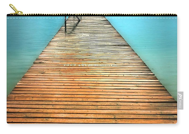 Pier Carry-all Pouch featuring the photograph The Calm by Tara Turner