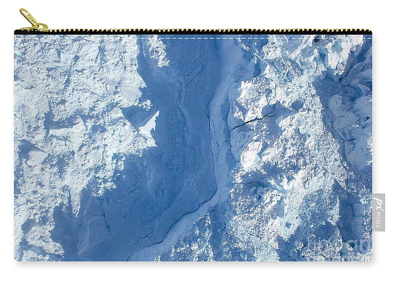 Jakobshavn Glacier Carry-all Pouch featuring the photograph The Calving Front Of The Jakobshavn by Stocktrek Images