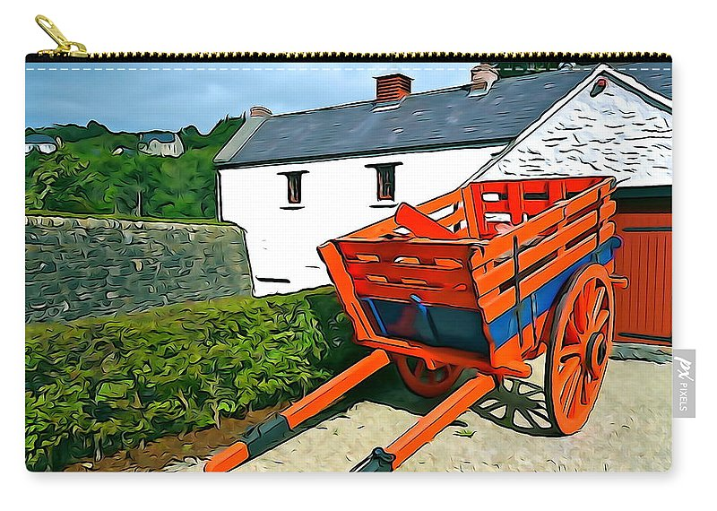 Orange Carry-all Pouch featuring the photograph The Cart by Charlie and Norma Brock