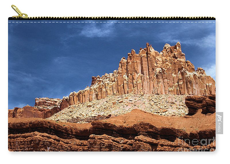 Carry-all Pouch featuring the photograph The Castle by Adam Jewell