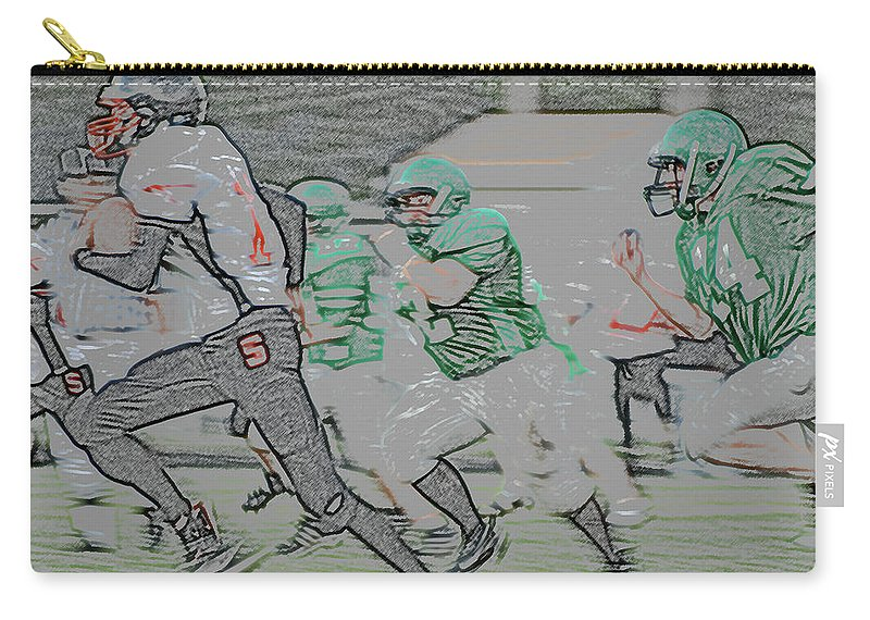 Digital Art Carry-all Pouch featuring the digital art The Chase Is On Digital Art by Thomas Woolworth