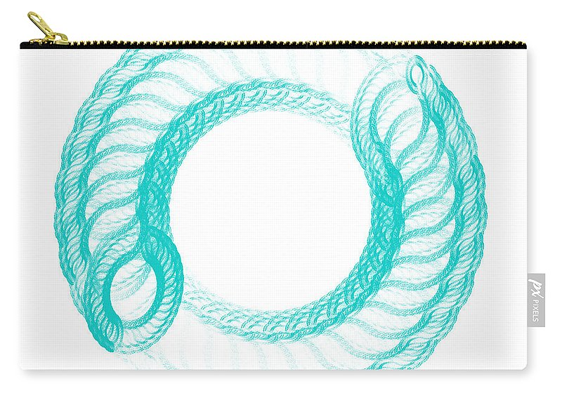 Digital Art Carry-all Pouch featuring the digital art The Circle II by Tatjana Popovska
