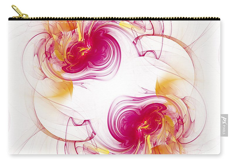 Fractal Carry-all Pouch featuring the digital art The Circle Of Love 1 by Andee Design