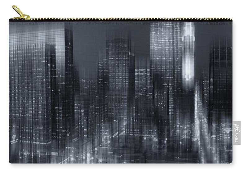 Minneapolis Carry-all Pouch featuring the photograph The City Comes Alive At Night by Angela King-Jones