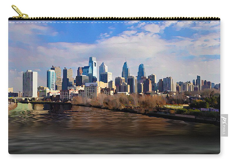 The City Of Brotherly Love Carry-all Pouch featuring the photograph The City Of Brotherly Love by Bill Cannon