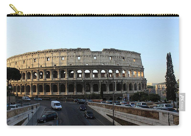 Rome Carry-all Pouch featuring the photograph The Colosseum in Rome by Munir Alawi