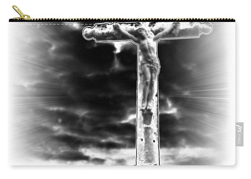 Jesus Carry-all Pouch featuring the photograph The Crucifixion by Diana Haronis
