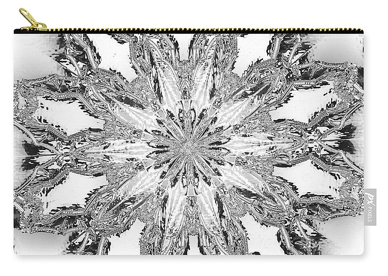 Kaleidoscopic Carry-all Pouch featuring the photograph The Crystal Snow Flake by Donna Brown