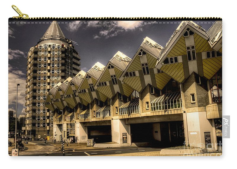 Rotterdam Carry-all Pouch featuring the photograph The Cube House by Rob Hawkins