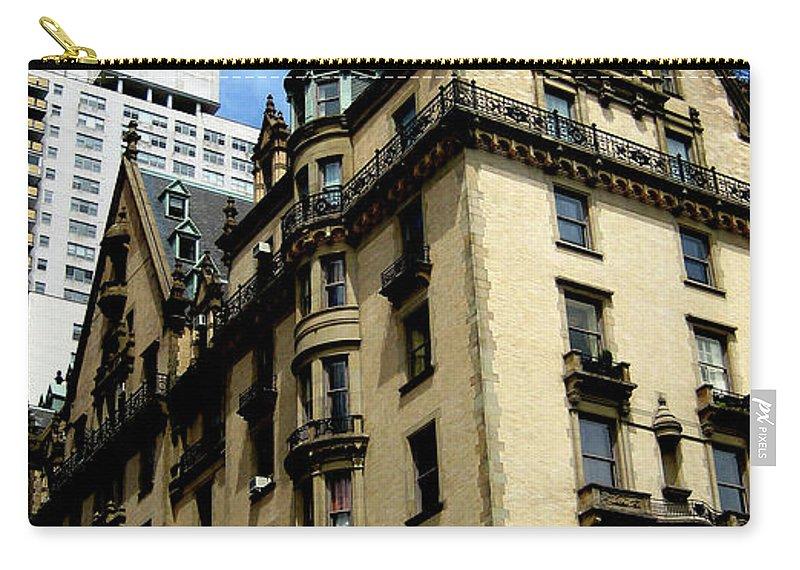 Manhattan Carry-all Pouch featuring the photograph The Dakota by Lorraine Devon Wilke