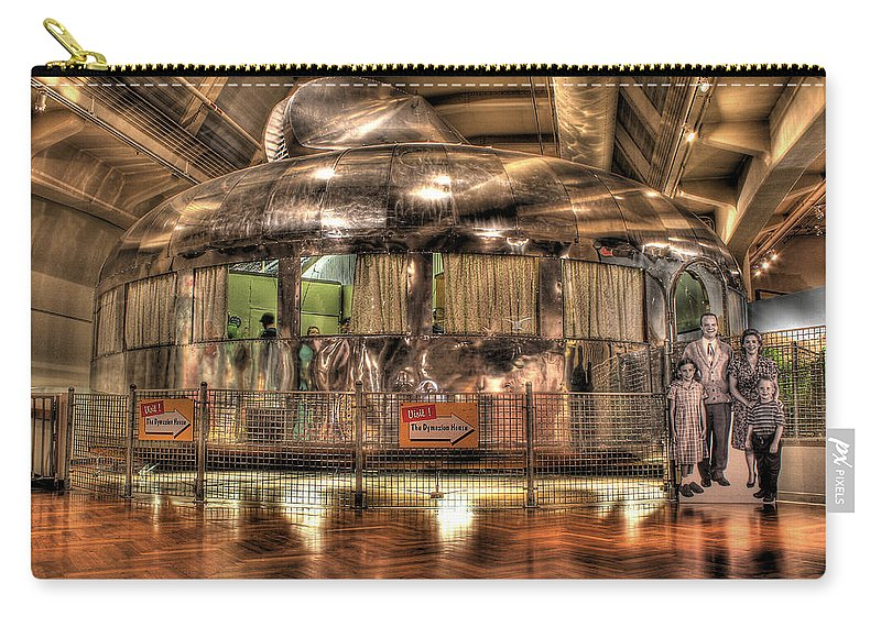Carry-all Pouch featuring the photograph The Dymaxion House Dearborn Mi by Nicholas Grunas