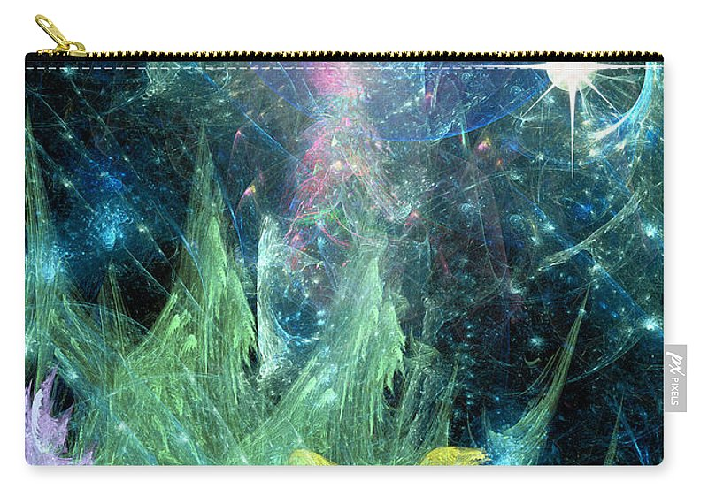 Abstract Carry-all Pouch featuring the digital art The Egregious Christmas Tree 1 by Russell Kightley