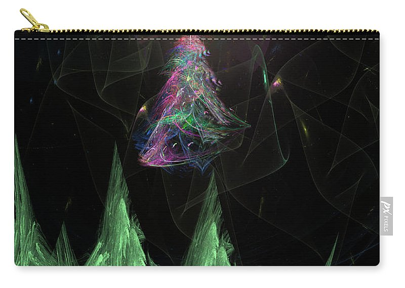 Abstract Carry-all Pouch featuring the digital art The Egregious Christmas Tree 2 by Russell Kightley