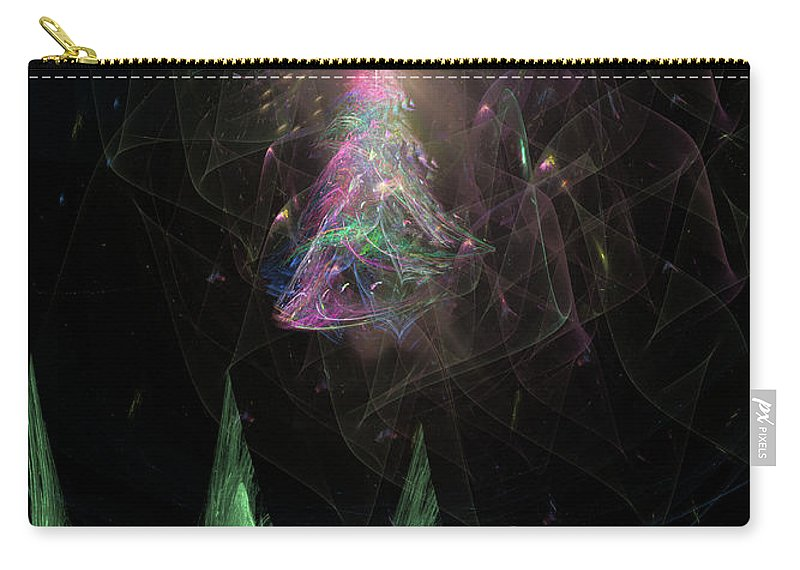 Abstract Carry-all Pouch featuring the digital art The Egregious Christmas Tree 3 by Russell Kightley