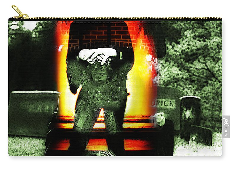 Clay Carry-all Pouch featuring the photograph The Evil Within by Clayton Bruster