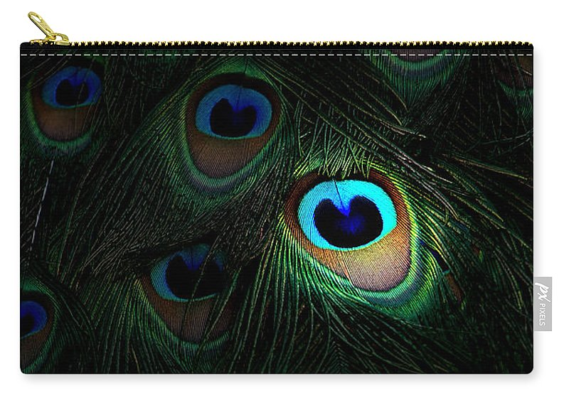 Peacock Carry-all Pouch featuring the photograph The Eyes Have It by Mike Nellums