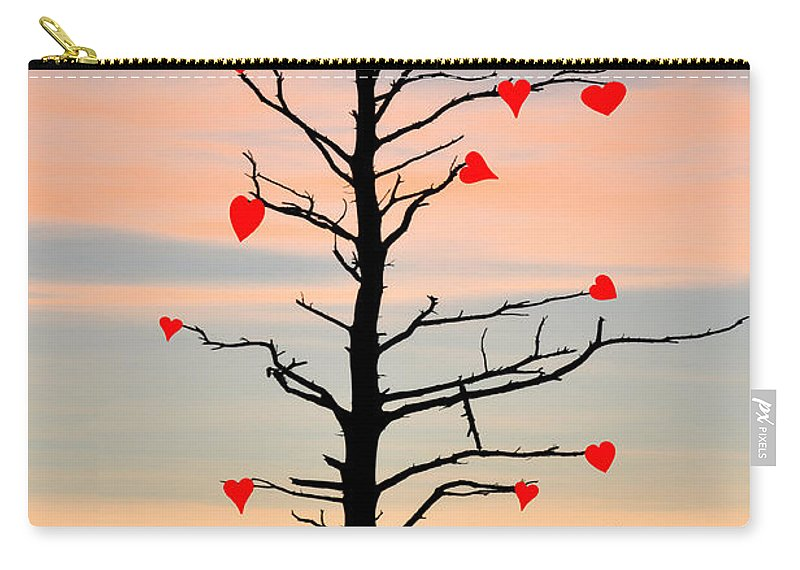The Fall Of Love Carry-all Pouch featuring the photograph The Fall Of Love by Bill Cannon