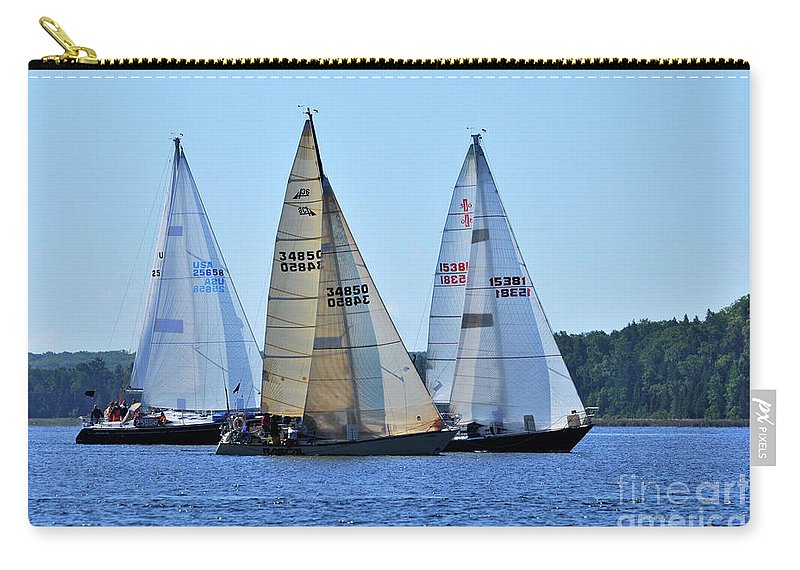 Sail Boats Carry-all Pouch featuring the photograph The Finish Line by Ronald Grogan