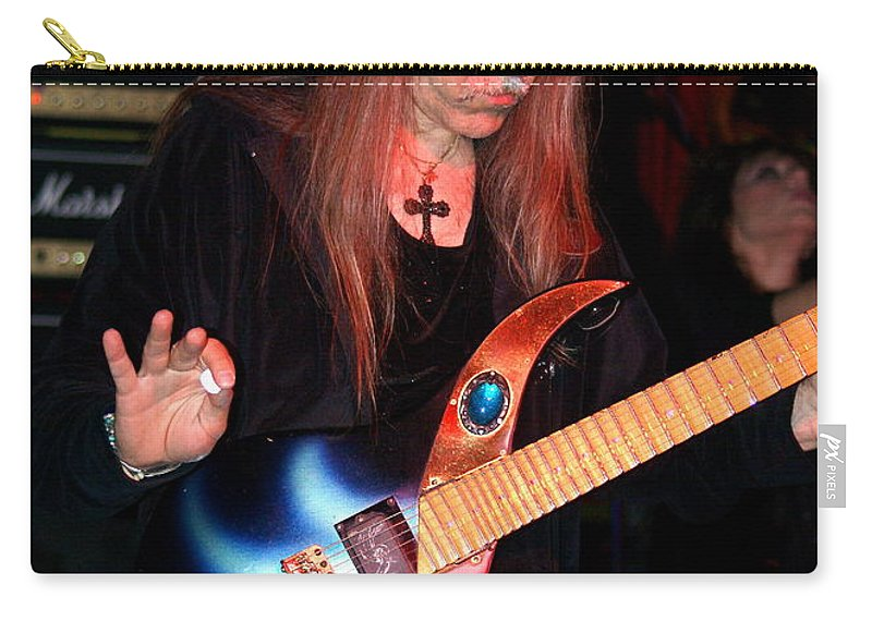 Uli Jon Roth Carry-all Pouch featuring the photograph The Fire Of The Electric Sun by Ben Upham