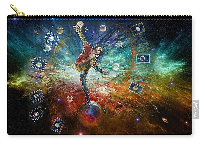 Fantasy Carry-all Pouch featuring the painting The Fool by Penny Golledge