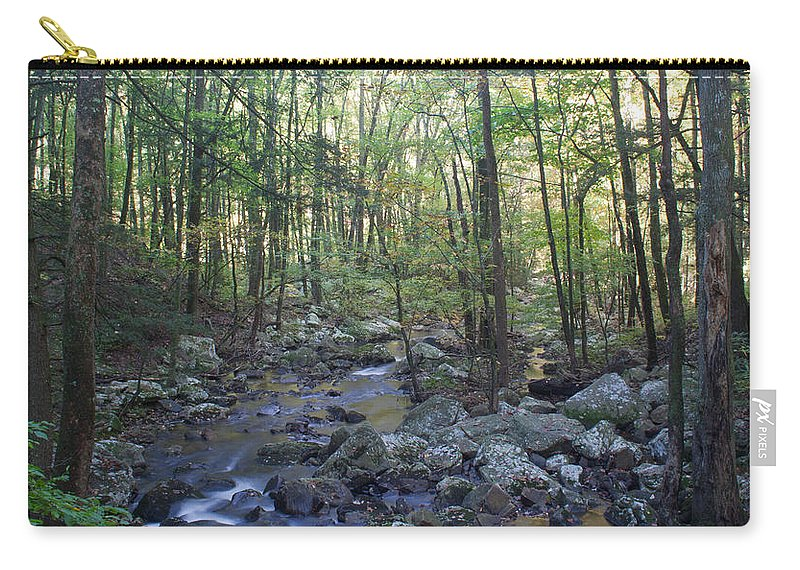 Forest Carry-all Pouch featuring the photograph The Forest by David Troxel