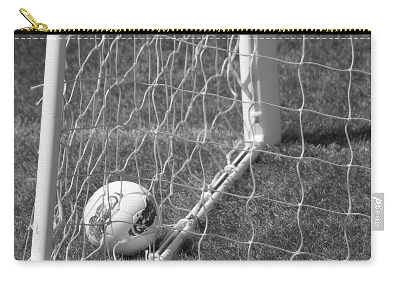 Soccer Carry-all Pouch featuring the photograph The Golden Goal by Laddie Halupa