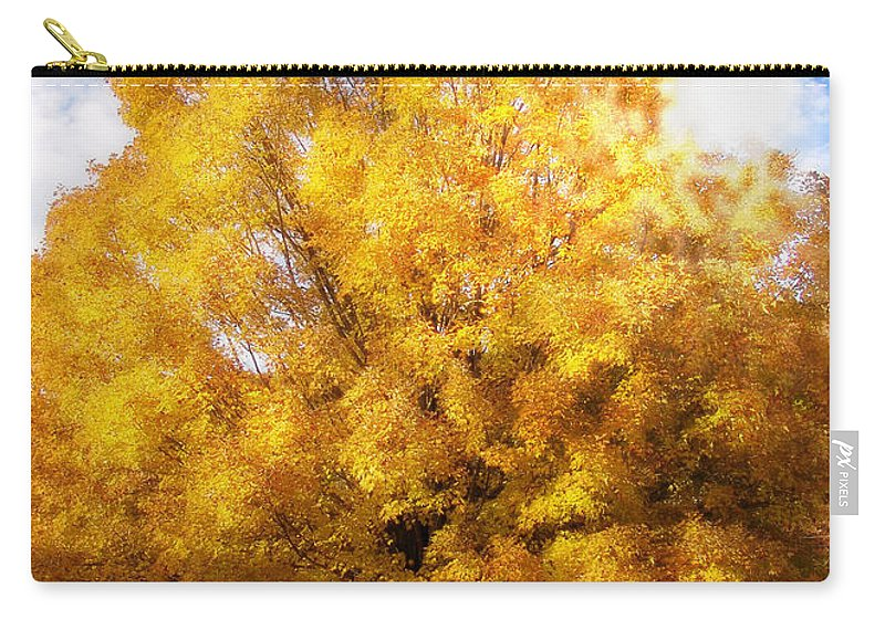 Fall Carry-all Pouch featuring the digital art The Golden Tree by Lj Lambert