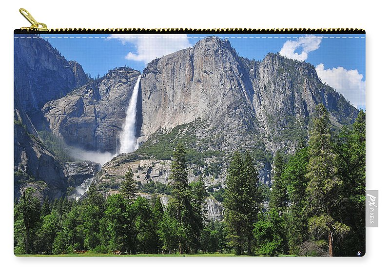 Falls Carry-all Pouch featuring the photograph The Grandeur Of Yosemite Falls by Lynn Bauer