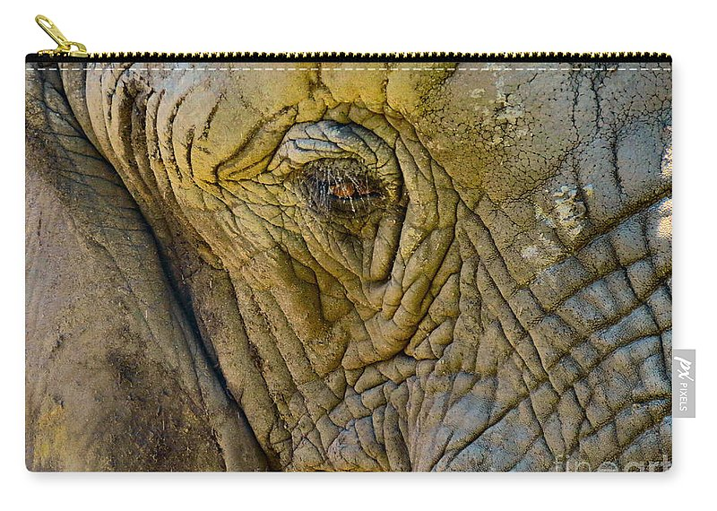 Elephant Carry-all Pouch featuring the photograph The Great by Art Dingo
