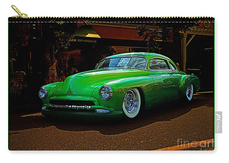 Old Cars Carry-all Pouch featuring the photograph The Green Machine by Randy Harris