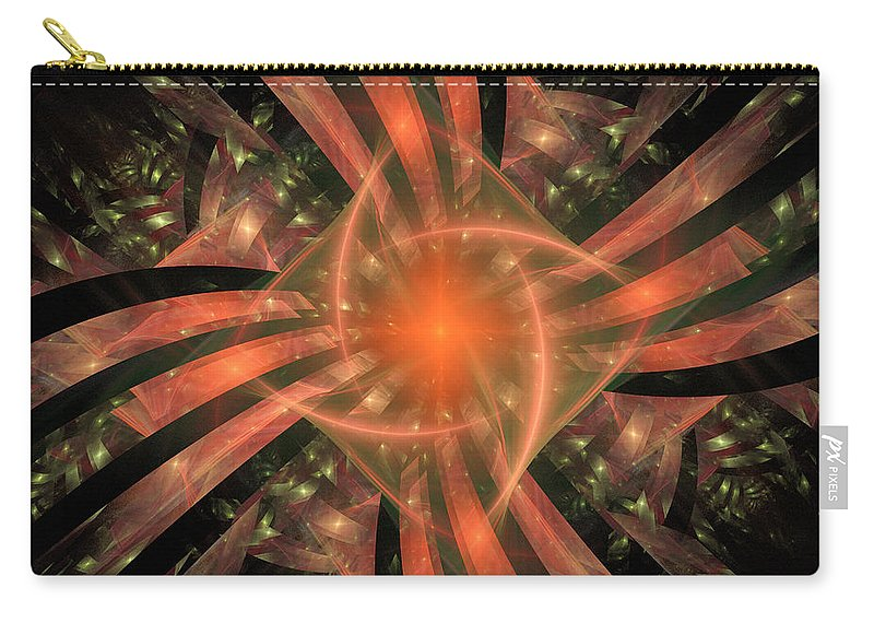 Pink Carry-all Pouch featuring the digital art The Heart Of It All by Ricky Barnard