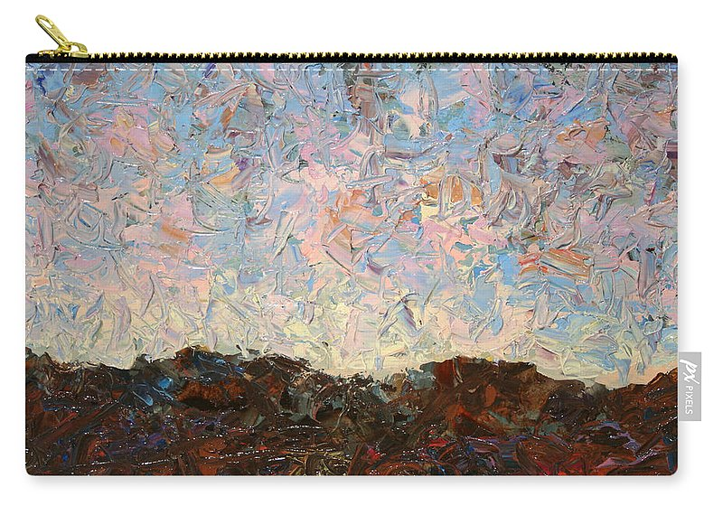 Hills Carry-all Pouch featuring the painting The Hills by James W Johnson