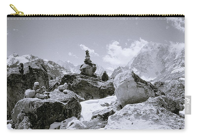 Himalaya Carry-all Pouch featuring the photograph The Himalayas by Shaun Higson
