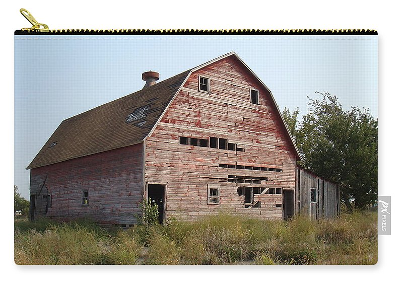 Barn Carry-all Pouch featuring the photograph The Hole Barn by Bonfire Photography