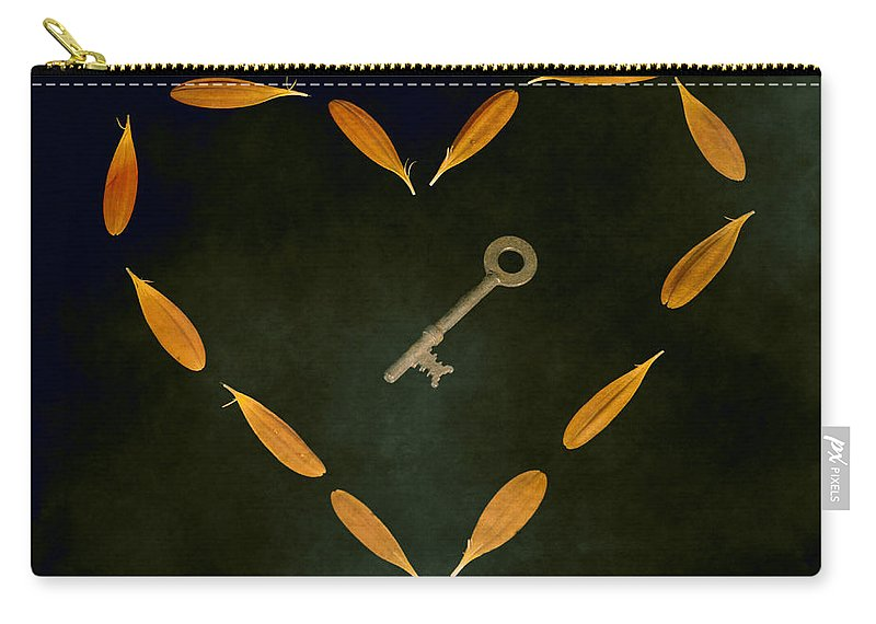 Heart Carry-all Pouch featuring the photograph The Key To My Heart by Joana Kruse