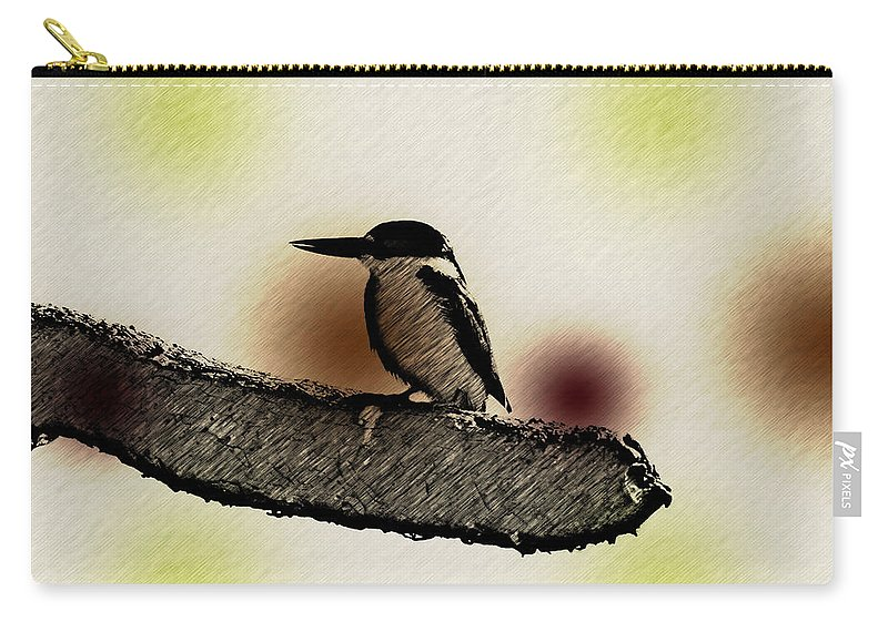 Kingfisher Carry-all Pouch featuring the photograph The Kingfisher by Douglas Barnard