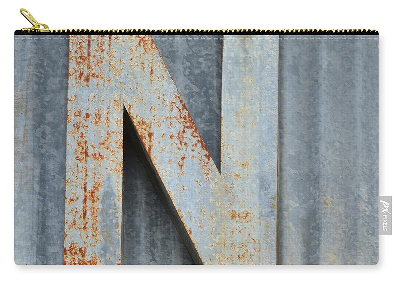 Letter Carry-all Pouch featuring the photograph The Letter N by Nikki Marie Smith