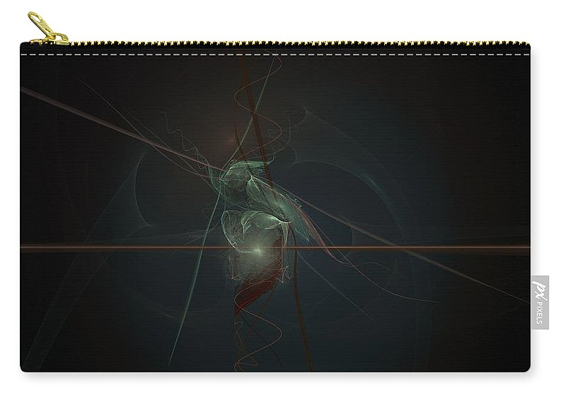 Digital Art Carry-all Pouch featuring the digital art The Light Keeper by Christy Leigh