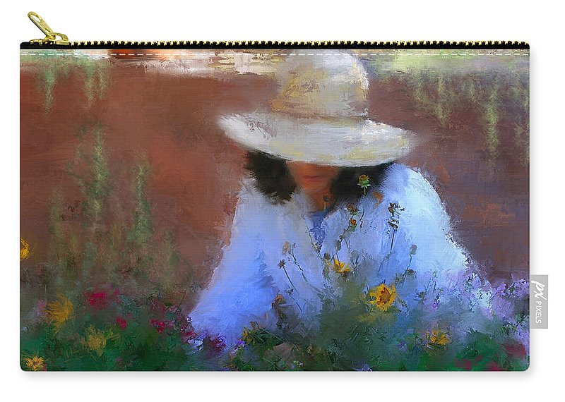 Flowers Carry-all Pouch featuring the painting The Light Of The Garden by Colleen Taylor