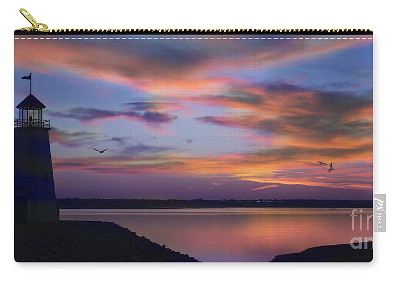 Lighthouse Carry-all Pouch featuring the photograph The Lighthouse by Betty LaRue