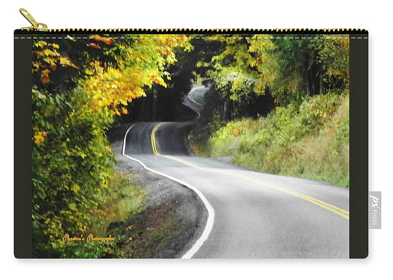 Roads Carry-all Pouch featuring the photograph The Low Road by Sadie Reneau
