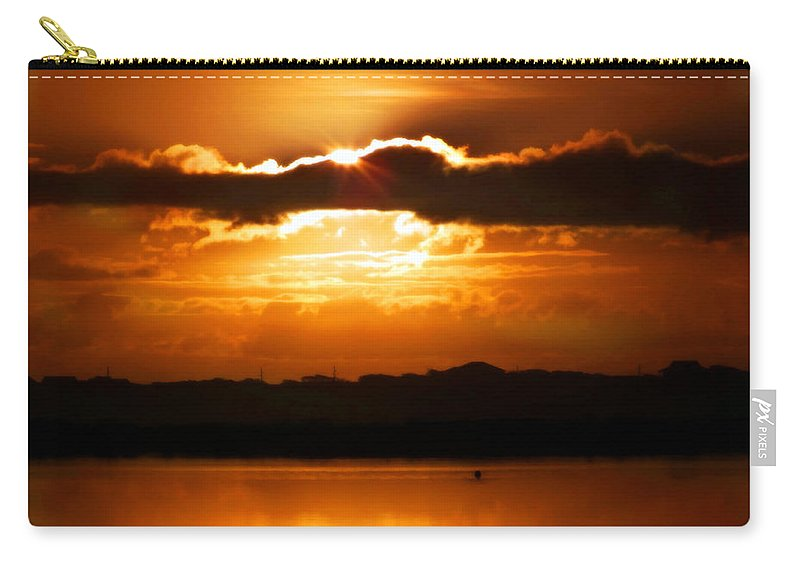 Sunrises Carry-all Pouch featuring the photograph The Magic Of Morning by Karen Wiles