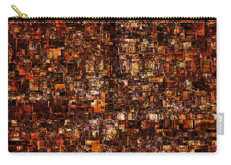 Fractal Carry-all Pouch featuring the digital art The Masses Of Metropolis by Richard Ortolano