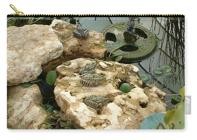 Frogs Carry-all Pouch featuring the photograph The meeting by Bonfire Photography