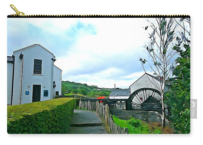 New Mills Carry-all Pouch featuring the photograph The Mill by Charlie and Norma Brock