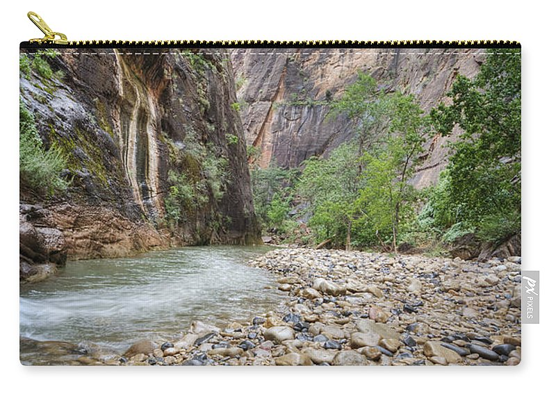Narrows Carry-all Pouch featuring the photograph The Narrows 1 by Jessica Velasco